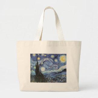 Pintura impresionista de la noche estrellada de Va Bolsas De Mano