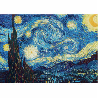 Pintura impresionista de la noche estrellada de Va Escultura Fotográfica