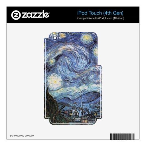 Pintura impresionista de la noche estrellada de Va iPod Touch 4G Skins