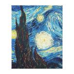 Pintura impresionista de la noche estrellada de Va Impresion De Lienzo