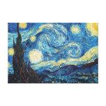 Pintura impresionista de la noche estrellada de Va Impresiones De Lienzo