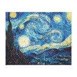 Pintura impresionista de la noche estrellada de Va Impresiones En Lona Estiradas