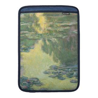 Pintura impresionista de los lirios de agua de funda  MacBook