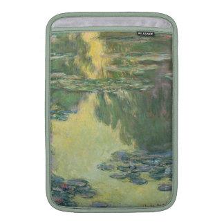 Pintura impresionista de los lirios de agua de fundas macbook air