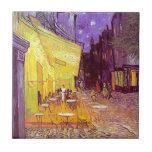 Pintura impresionista del café de Van Gogh Teja Cerámica
