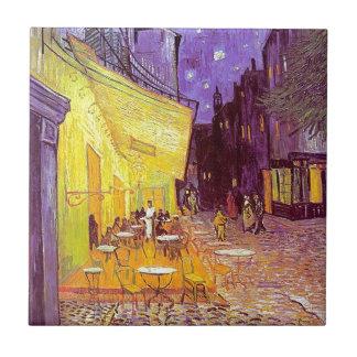 Pintura impresionista del café de Van Gogh Azulejo Cuadrado Pequeño