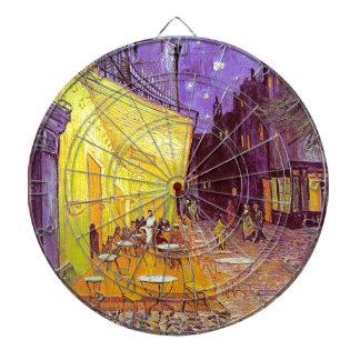 Pintura impresionista del café de Van Gogh Tablero De Dardos