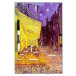 Pintura impresionista del café de Van Gogh Pizarras Blancas