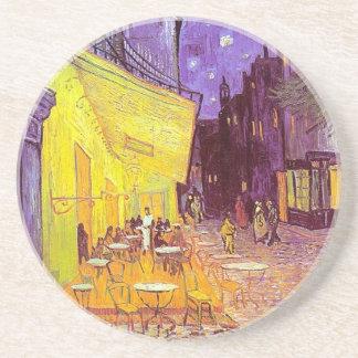 Pintura impresionista del café de Van Gogh Posavasos Personalizados