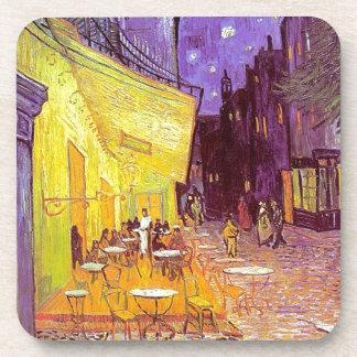 Pintura impresionista del café de Van Gogh Posavasos