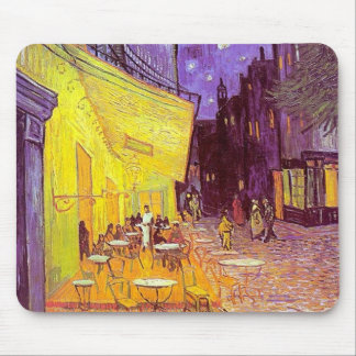 Pintura impresionista del café de Van Gogh Tapetes De Ratones