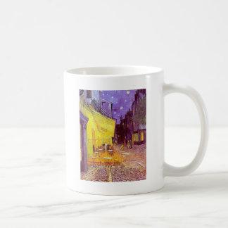 Pintura impresionista del café de Van Gogh Taza De Café