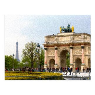 Pintura impresionista del estilo de Tuileries Tarjeta Postal