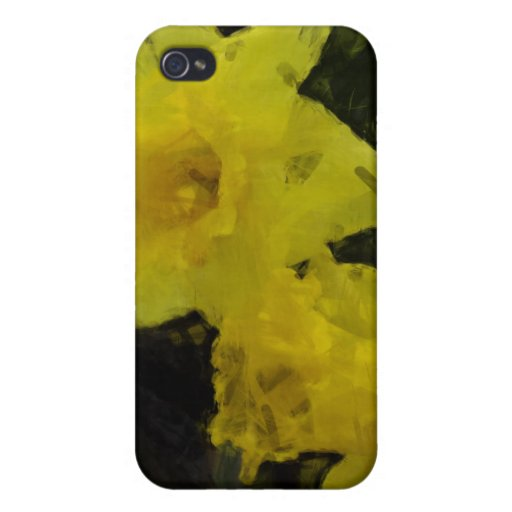 Pintura impresionista floral de los narcisos amari iPhone 4 carcasa