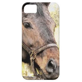 Pintura incompleta de la cara del caballo de Brown iPhone 5 Funda