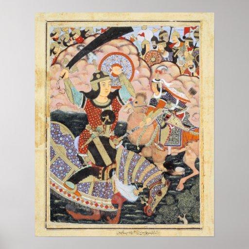 Pintura india de Qasam al-Abbas del héroe Impresiones