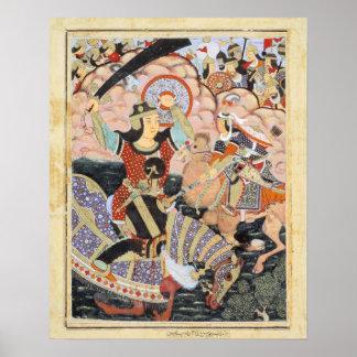 Pintura india de Qasam al-Abbas del héroe Póster