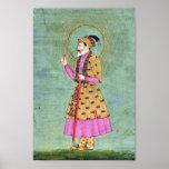 Pintura india del emperador impresiones