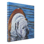 Pintura inglesa del dogo en lona envuelta impresion de lienzo