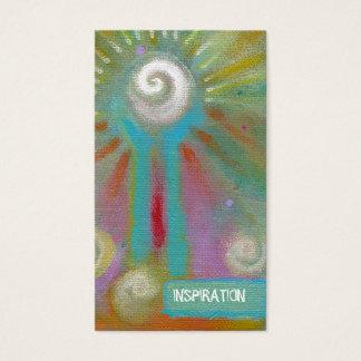 Pintura inspirada artsy colorida de la diversión tarjetas de visita