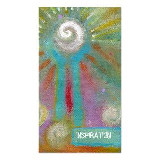 Pintura inspirada artsy colorida de la diversión ú tarjetas de visita