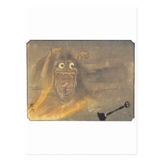 Pintura japonesa antigua del fantasma/del demonio tarjetas postales