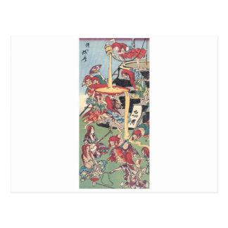 Pintura japonesa antigua postales