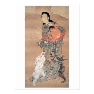 Pintura japonesa antigua tarjetas postales