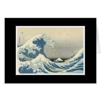 """Pintura japonesa """"de la gran onda"""" tarjeta de felicitación"""