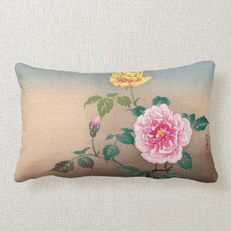 Pintura japonesa de las flores de Tsuchiya Koitsu Cojín