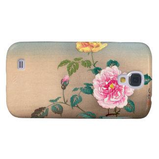 Pintura japonesa de las flores de Tsuchiya Koitsu  Funda Para Galaxy S4