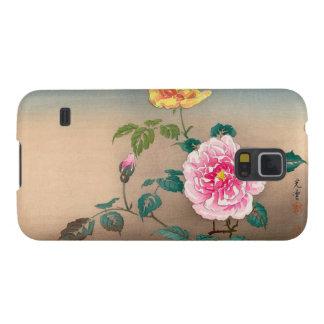 Pintura japonesa de las flores de Tsuchiya Koitsu Funda Para Galaxy S5
