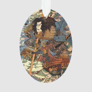 Pintura japonesa de Ukiyo-e del samurai del