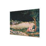Pintura japonesa del espejo que muestra a un chica impresiones en lona estiradas