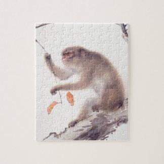 Pintura japonesa del mono - año del mono 2016 puzzle