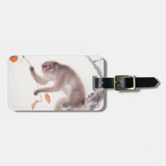 Pintura japonesa del mono - año del mono etiquetas bolsa