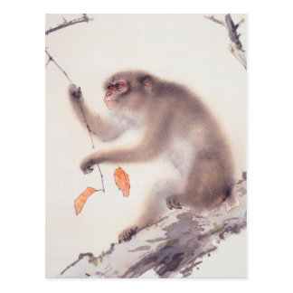 Pintura japonesa del mono - año del mono tarjetas postales