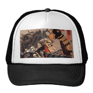 Pintura japonesa del samurai de 100 generales vali gorras