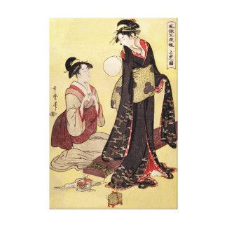 Pintura japonesa del vintage de la reproducción impresión en lienzo