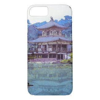 Pintura japonesa oriental fresca del templo del funda iPhone 7
