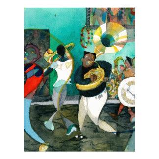 Pintura jazz de la música de New Orleans