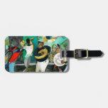 """Pintura """"jazz de la música de New Orleans """" Etiquetas De Equipaje"""