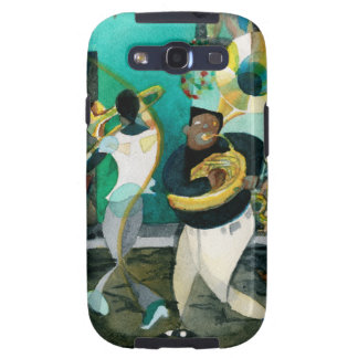 "Pintura ""jazz de la música de New Orleans "" Samsung Galaxy S3 Cobertura"