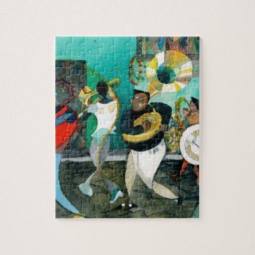 """Pintura """"jazz de la música de New Orleans """" Puzzle"""