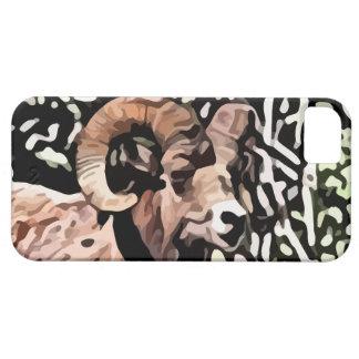 pintura larga de las ovejas del cuerno iPhone 5 carcasa
