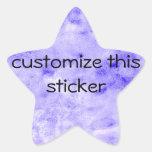 Pintura lavada a la piedra azul del fondo de la pegatinas forma de estrellaes personalizadas