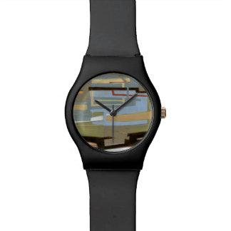 Pintura libre moderna de la expresión del normando reloj de mano