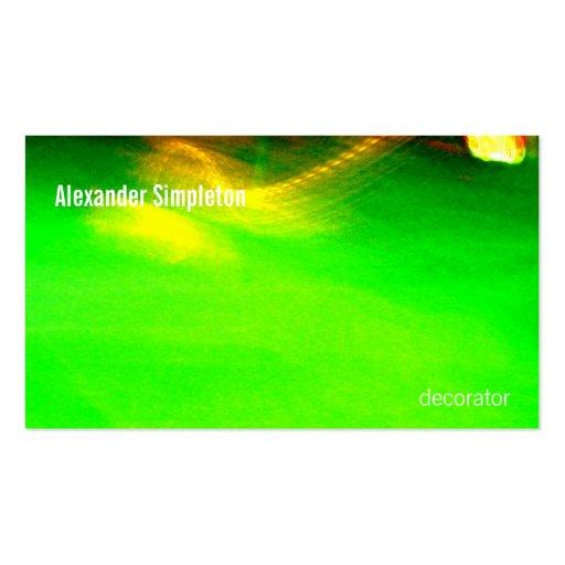 Pintura ligera abstracta 01 Greenacrageless Tarjetas De Visita