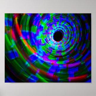 Pintura ligera espiral abstracta posters