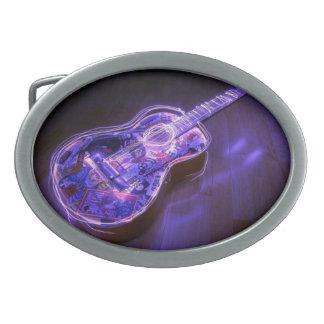 Pintura ligera: guitarra - hebillas de cinturón ovales